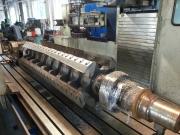 Oprava dosedací plochy nože na rotoru nožového mlýnu