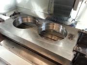 Frézování děr pro ložiska a zápichu v čele drtiče