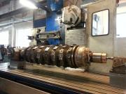 Oprava rotoru na recyklaci pneumatik na CNC frézce