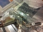 Frézování a vrtání příložky do rotoru na CNC obráběcím centru