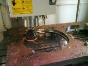hrubování děr v hardoxu na CNC obráběcím centru
