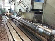 Frézování šestihranu na hřídeli pro dvouhřídelový drtič odpadů na CNC frézce FFQ100