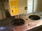 Frézování děr pro ložiska v bočnici drtiče